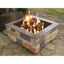 natural gas fire pit table size
