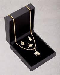 designer box sets designer jewelry box with pendant set adjule ring for women voylla
