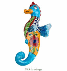 on talavera ceramic wall art with mini talavera sea horse ceramic wall art