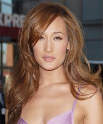 Maggie Q's light brown hair colour.