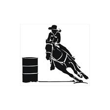 barrel racing poster horse stencil