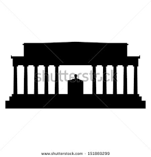 lincoln memorial building clipart. lincoln memorial silhouette building clipart
