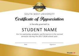 Certificate Layout Design Template 30 Free Certificate Of Appreciation Templates And Letters