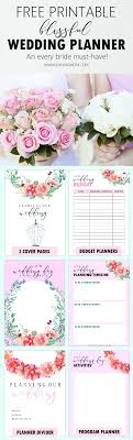 Printable Wedding Planner Free Printable Wedding Planner With Wedding Checklist