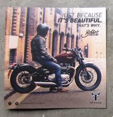 triumph bonneville 1200 bobber 2017 motorcycle sales brochure