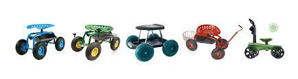 garden seat on wheels. Rolling Garden Seat With Big Wheels On 0