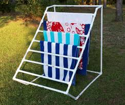 deck our home pvc towel holder along with lovely diy pool towel rack gallery 20