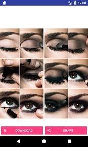 beauty eye makeup steps screenshot 3