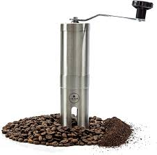 Blade grinders use a rapidly spinning blade to pulverize the coffee beans. Amazon Com Eze Homegoods Hand Coffee Mill Grinder With Conical Ceramic Burr Consistent Grind Every Time Professional Grade Stainless Steel Lightweight And Portable Heavy Duty Extra Long Hand Crank Kitchen Dining