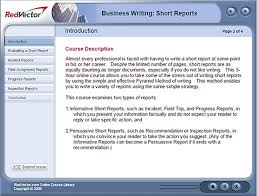 Business Writing Short Reports