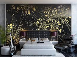 Bedroom: Bedroom Wall Murals Unique Bedroom Decorating Ideas Flowers Wall  Mural Interior Design -