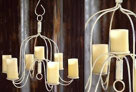 white candle chandelier this large candle chandelier has an antique white and rust finish offering sophisticated
