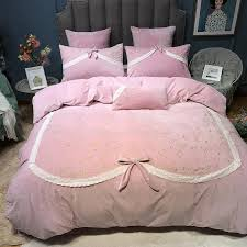 girls pink bedding sets princess bow