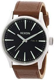 amazon com nixon a105 1037 mens sentry black saddle watch nixon nixon a105 1037 mens sentry black saddle watch