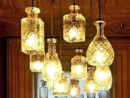 glass bottle chandelier recycled ideas full image for easy ways to cut bottles do l80
