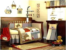 teddy bear baby crib bedding sets set blue jean home