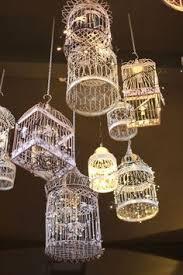 bird cage lighting. #birdcage #lighting #lights #goodidea More Bird Cage Lighting R