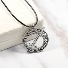 dark souls 3 blade of the dark moon sword pendant leather rope necklace jewelry