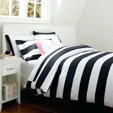 cottage stripe duvet cover sham black and white striped