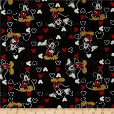 25 best Fabric images on Pinterest   Cotton textile, American flag ... & Disney Mickey Everyday Mickey and Icons Toss Black Fabric Adamdwight.com