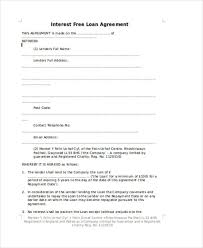 Free Loan Agreement Loan Agreement Form Example 100 Free Documents in Word PDF 39