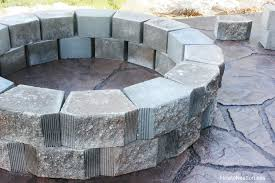 outdoor stone fire pit. Stone Backyard Fire Pit Outdoor