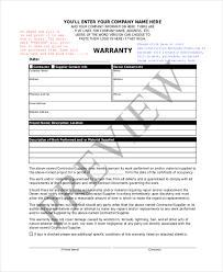 warranty template word construction warranty form template zakly info