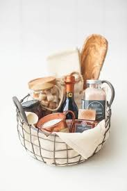 housewarming gift basket stuff with cheese sler party tray