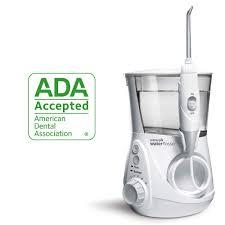 Professional Designer Series Water Flosser Waterpik Water Flosser Electric Dental Countertop Professional Oral Irrigator For Teeth Aquarius Wp 660 White
