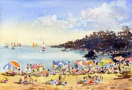 terranean beach scene