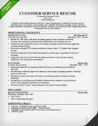 Customer Service Representative Resume Sample Self Employment