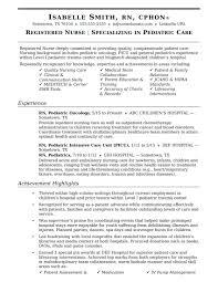 Resume Nurse Example Resume Example Of A Nursing Resume 8