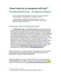 Homily Chart Free Trial The Baudrillard Index Bishops University