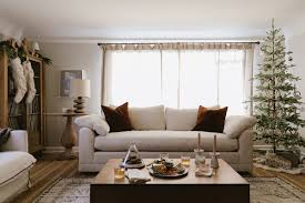 Crate And Barrel Living Room Design Our Perfectly Cozy Christmas Living Room With Crate And