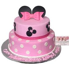 1958 2 Tier Minnie Mouse Baby Shower Cake Abc Cake Shop Bakery
