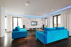 attractive living room design with light blue sofa and wall excerpt bedroom paint combination dark flooring blue dark trendy living room