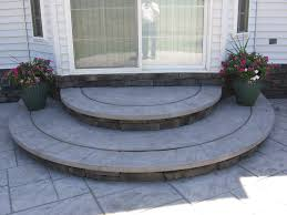 stamped concrete patio with stairs.  Patio Concrete Porch Steps  How To Maintain Your Stamped Patio Or  Sidewalk Throughout Stamped Concrete Patio With Stairs R