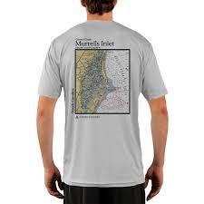 Murrells Inlet Chart Mens Upf 50 Uv Sun Protection Short Sleeve T Shirt