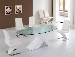 modern gl dining table set