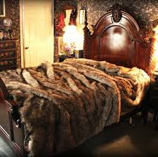 home and furniture elegant faux fur bedding on sets from bed bath beyond faux