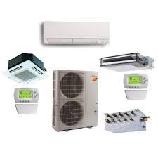 mitsubishi ductless heat pump.  Heat Mitsubishi 4 Zone 36K BTU Heat Pump Hyper With Up To Four Indoor Units Ductless S