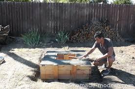 homemade modern diy ep41 concrete fire pit step 14