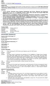 Electronics Engineer Resume Sample For Freshers 24 Electrical Engineer Fresher Resume Sample Samples Resume For 1