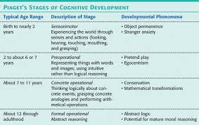 Piagets Theory Of Cognitive Development Behaviorism