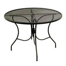 round mesh patio dining table