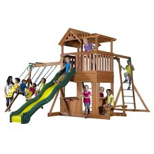 Backyard Discovery Thunder Ridge All Cedar Swingset - Free Shipping Today -  Overstock.com - 17815597
