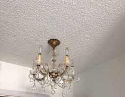 vintage petite brass chandelier underwriters laboratories crystals 4 lights 1 of 11 see more