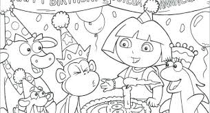 Dora The Explorer Colouring Games Coloring Pages Pdf Online
