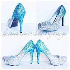 Light Blue Glitter Heels Glitter High Heels Blue And Silver Pumps Aqua Turquoise Ombre Platform Shoes Fade Two Tone Heels Sparkly Glitzy Wedding Heels From Chelsie Dey