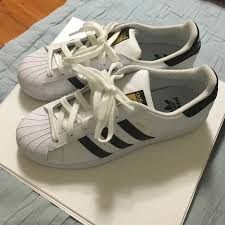 womens adidas superstars size 7 adidas shoes superstar sneakers fits womens 7 12 or 8 poshmark